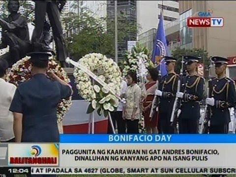 BT: Paggunita ng kaarawan ni Gat Andres Bonifacio, dinaluhan ng kanyang apo na isang pulis