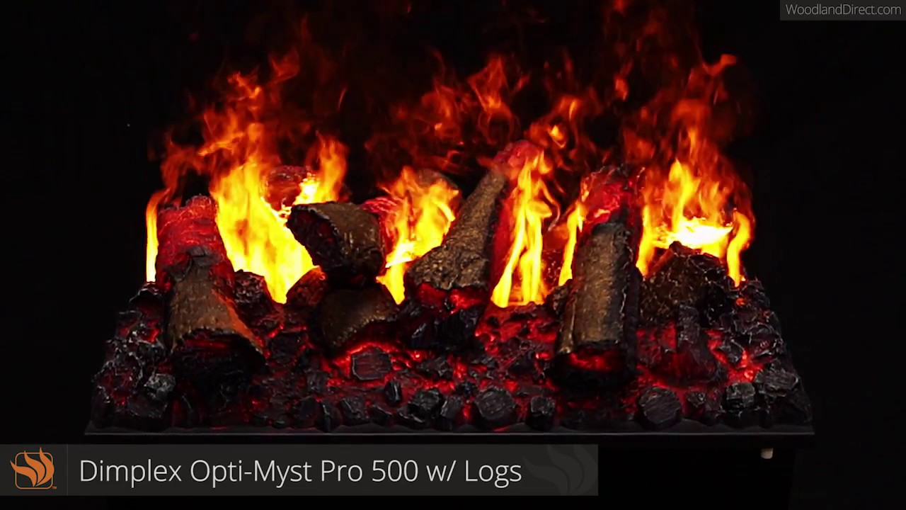 opti myst pro 500 electric fireplace with logs youtube