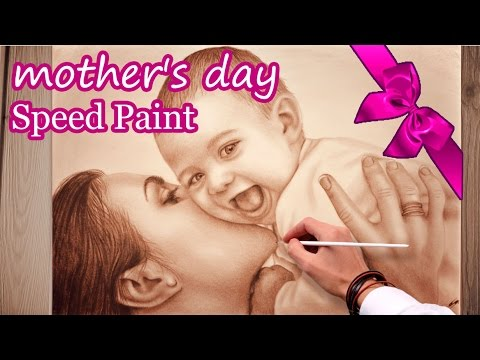 Mother's Day Speed Painting/ GIFT FOR MOM :-)