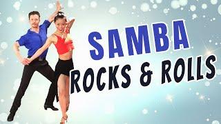 Advanced Samba Dance Tutorial - Open Hand Rocks & Samba Rolls