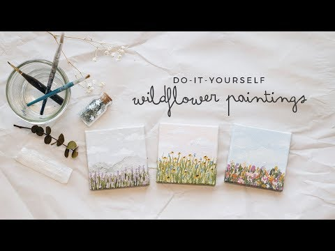 diy mini wildflower paintings