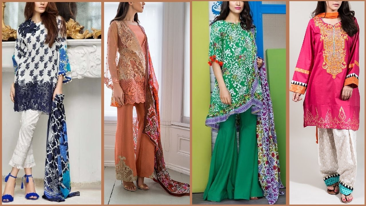 9115024e56 Latest Top Pakistani shalwar kameez designs 2017 | Latest salwar suits /  Kurti for ladies