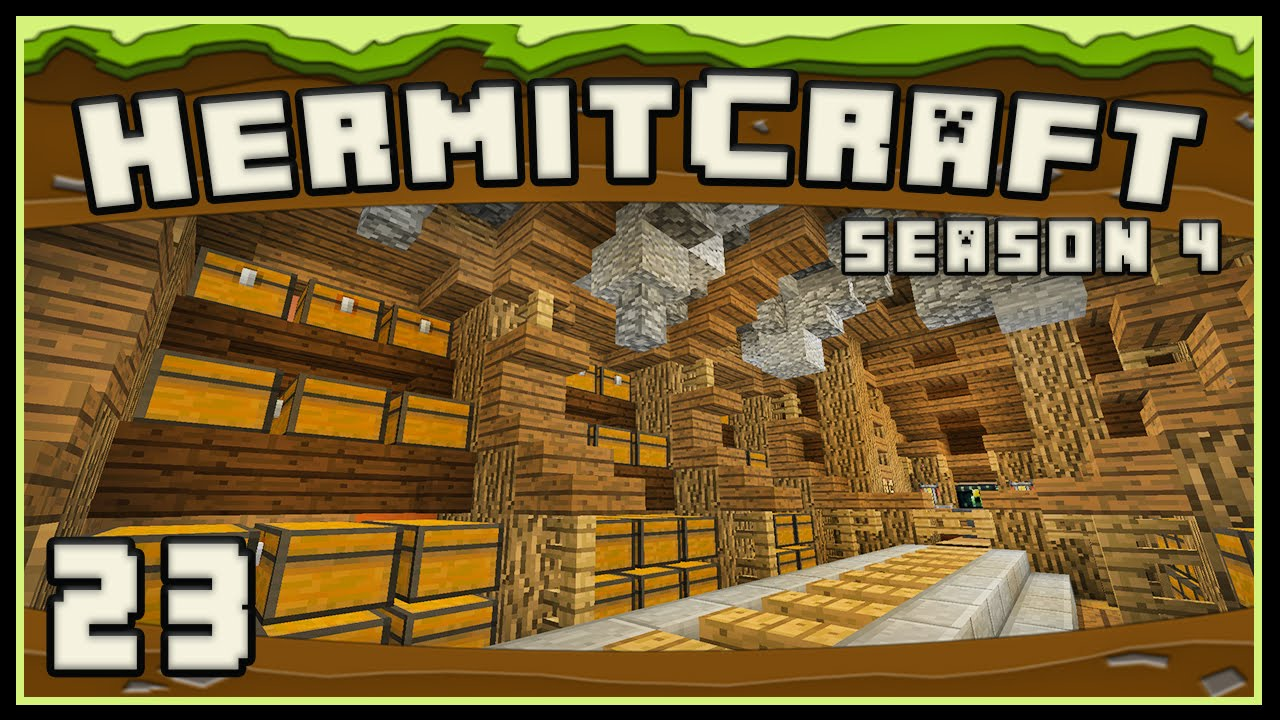 Hermitcraft 4 New Storage Room Design For My Survival