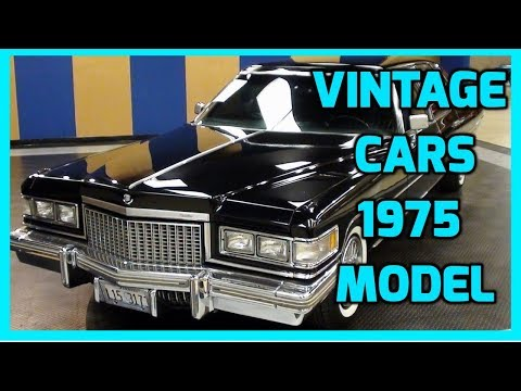 Vintage Cars Cadillac Fleetwood 1975 Model Video | Classic Cars | Tamil Automobile Videos