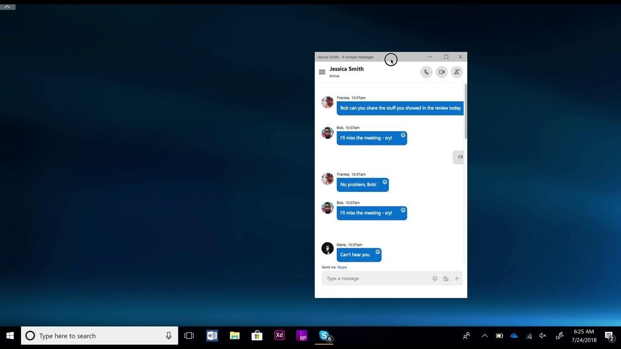 Skype Split mode