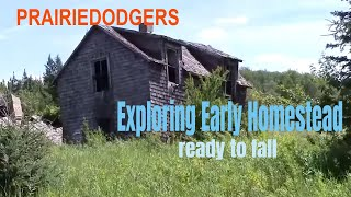 Exploring an Old Pioneer Home Ready to Fall Urban Exploration #37