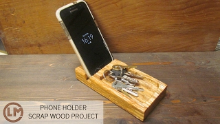 How To Make a Samsung smartphone Holder from Scrapwood - Upcycle - DIY