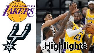 Lakers vs Spurs HIGHLIGHTS Full Game | NBA January 1