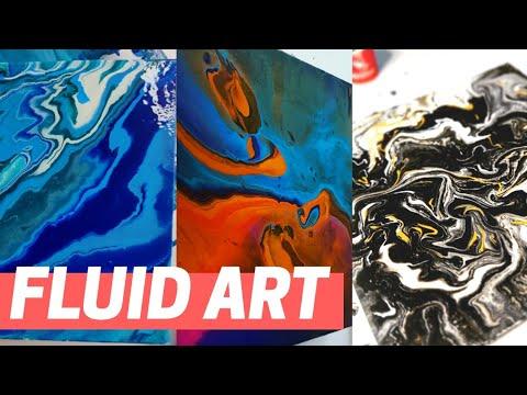 Fluid art painting | canvas painting ideas