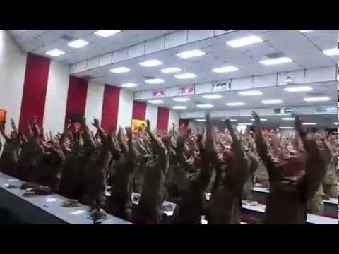 "America's Marines Singing ""Days of Elijah"""