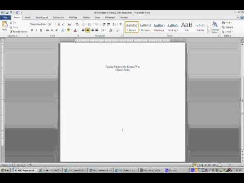 NHD Paper Work How To Create A Title Page YouTube