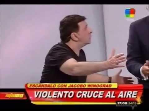 Jacobo Winograd se fue a las manos en vivo con Miguel Rizzo: insultos, piñas y sillazos