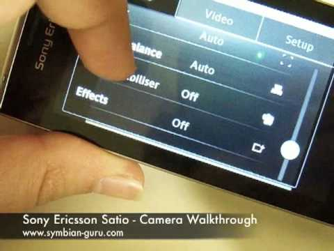 Sony Ericsson Satio - Camera UI Walkthrough