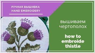 Hand embroidery| Ручная вышивка| Чертополох| Thistle| free pattern| бесплатная схема вышивки