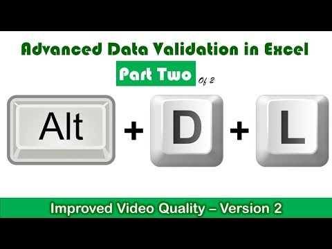 Data Validation - Dependent Drop Lists - Part 2 of 2