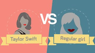 Taylor Swift vs Regular Girl Facts and Statistics thumbnail