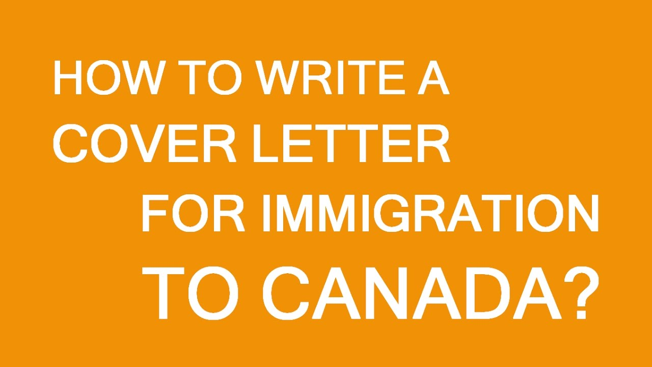 How to draft a cover letter for immigration to Canada  YouTube