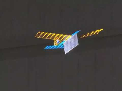 Initial Demonstration of Power-Beaming a Model Aircraft with Visible Light Energy