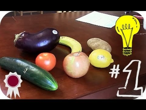 What FRUIT Produces the Most Electricity?! Eggplant, Tomato, Apple, Lemon?! Banana?
