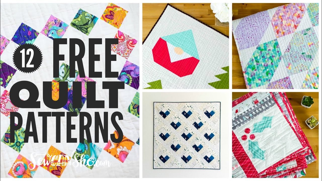 20 Free Quilt Patterns You Will LOVE
