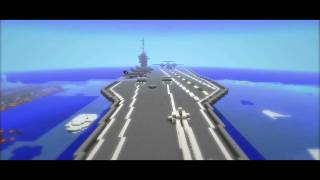 Full Scale Minecraft Nimitz Class Aircraft Carrier