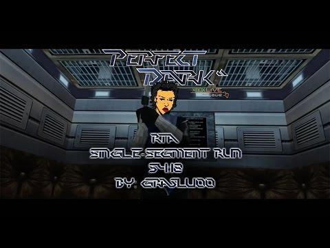 Perfect Dark XBLA - Perfect Agent - Single-segment RTA Speedrun (54:18) [World Record]