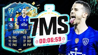 AMAZING VALUE!! 92 TEAM OF THE SEASON GIOVINCO! 7 MINUTE SQUAD BUILDER - FIFA 20 ULTIMATE TEAM