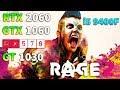 RAGE 2 : RTX 2060 - GTX 1060 - RX 570 - GT 1030 + i5 9400F