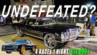 DONKMASTER VS THE STATE OF MISSISSIPPI - 4 RACES IN 1 NIGHT !  Z06 Donk, The Black Blur