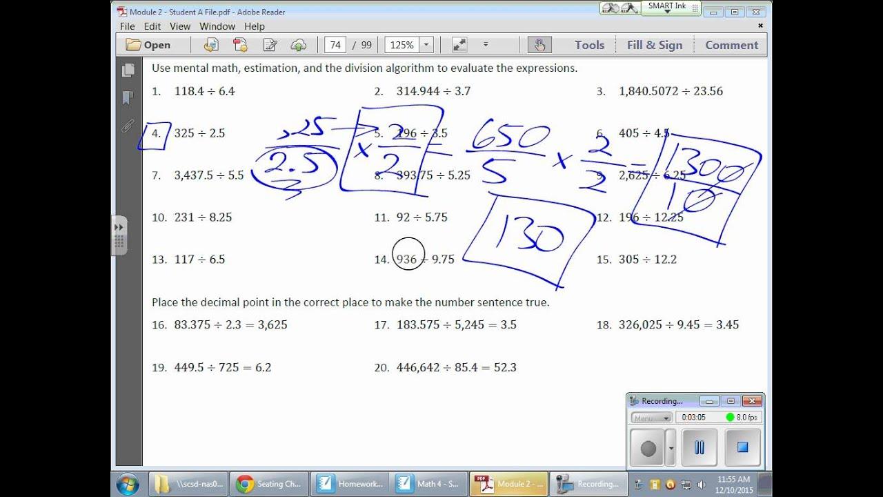 Grade 6 Module 2 Lesson 15