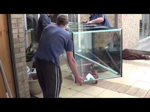 installation of 8.5ft x 2.5ft x 2.5 fish tank