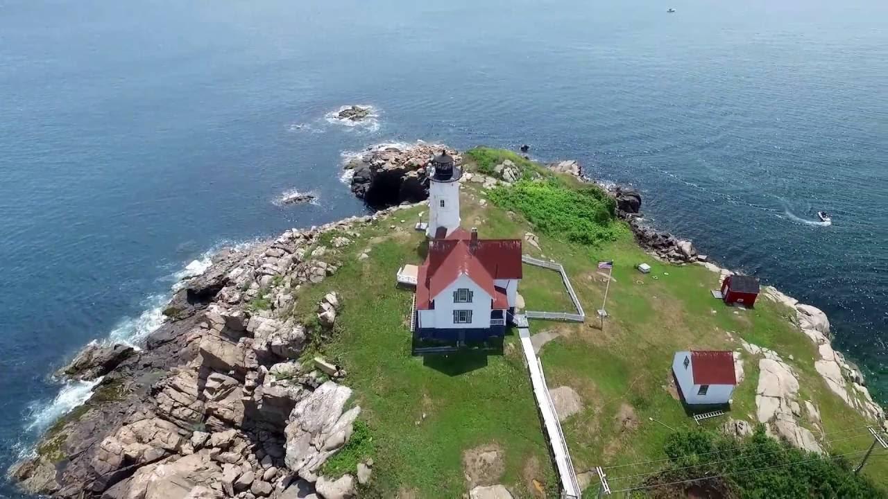 Nubble Lighthouse York Beach Maine Drone Video Dji Phantom 3 Johnny J