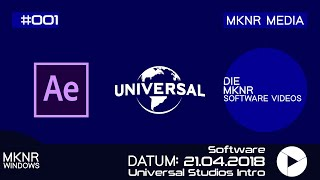 ▶️ Adobe After Effects CC ▶️ Universal Studio Intro ▶️ (Element 3d & Optical Flares)