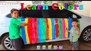 Pintamos o carro do Papai | Rafael goes to car wash to clean paint