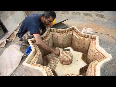 fontaine centrale avec de zellij baldi decoration traditionnel marocain 2013 by atelier zellige. Black Bedroom Furniture Sets. Home Design Ideas