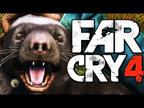 Far Cry 4 Funny Moments (Hunting Rare Honey Badger, Liberating a Fortress) |
