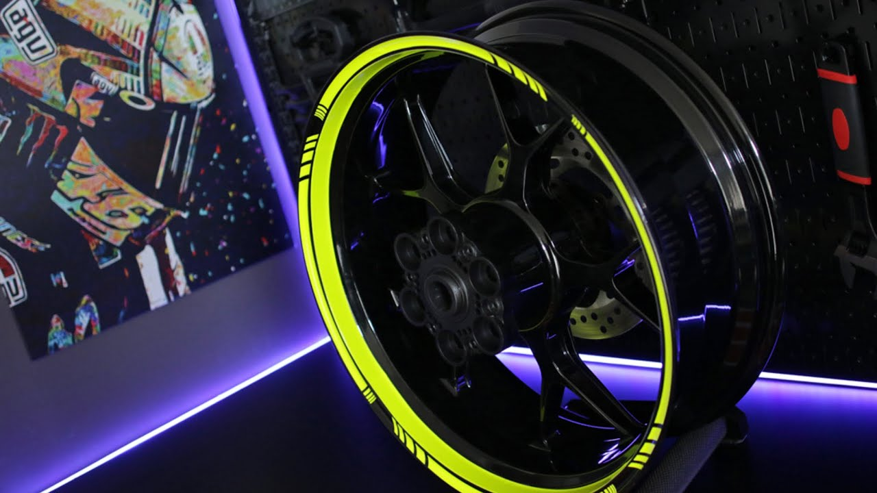 Motoinkz Fluorescent Green Wheel Stripes Tape Youtube