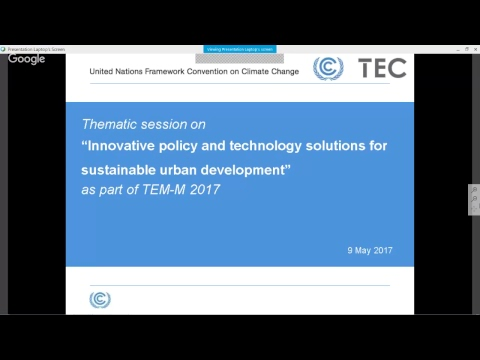 TEMs Mitigation: Urban Environment - Innovative policy & technology solutions for sust urban dev