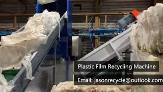 Plastic Film Recycling Machine 1000kg/h working in Euro