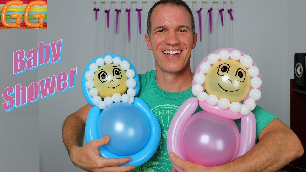 Ideas Adornos Baby Shower.Baby Shower Ideas How To Make A Balloon Baby Gustavo Gg