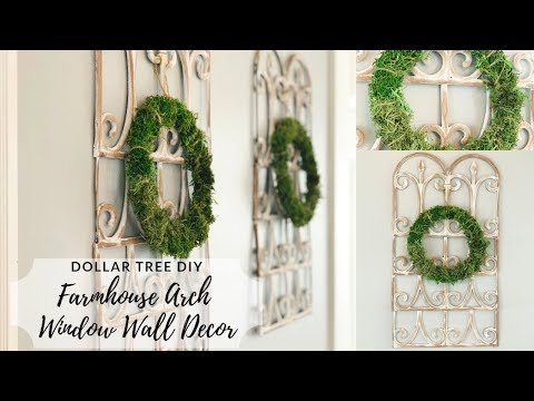 Dollar Tree DIY Farmhouse Arch Window Frame Wall Decor