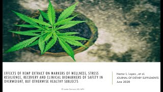Does a CBD-rich extract improve sleep and increase stress resilience?