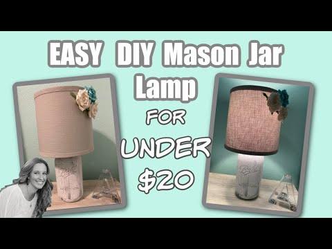 DIY Mason jar DIY MASON JAR LAMP | EASY DIY | Throwback Thursday