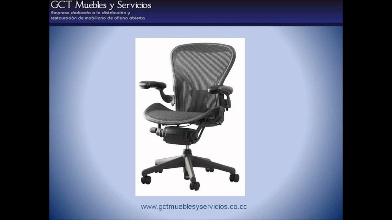 Gct muebles y servicios vende silla aeron herman miller for Silla herman miller