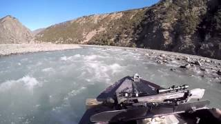 Jet boating a New Zealand river
