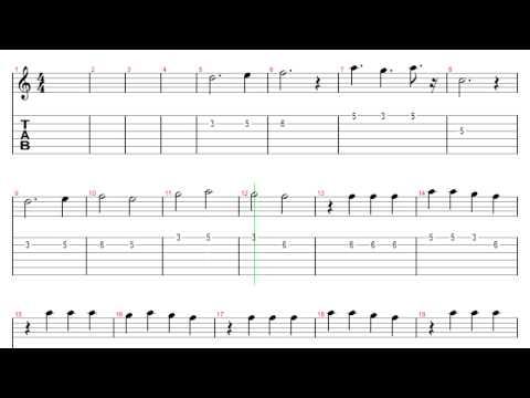[Guitar Tab] Gravity Falls theme music