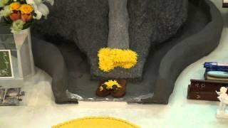 12/03インドの方に花をそえられたシルディ・サイババin東京テンプル