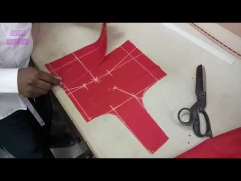 Belt Blouse Cutting in Professional Style