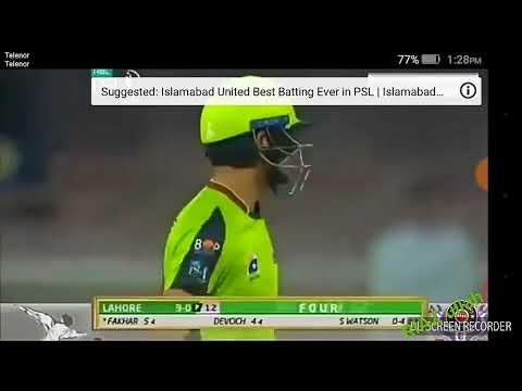 Fakhar zaman batting 94 runs on 50 balls