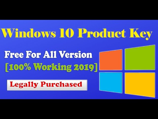 Windows 10 Product Key Free For All Version [100% Working]